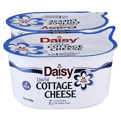 Daisy Brand 2% Cottage Cheese 2 - 5.3 Oz - 10.6 OZ