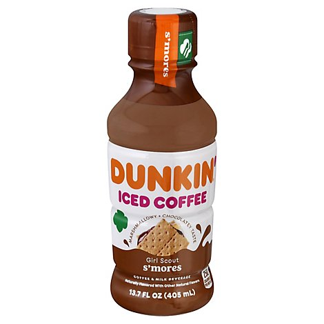 Dunkin S Mores Iced Coffee Bottle 13.7oz - 13.7 OZ