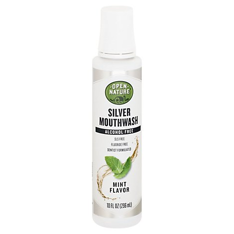 Open Nature Mouthwash Silver Mint - 10 FZ