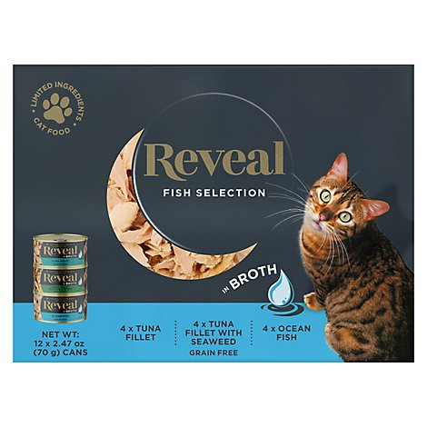 Reveal Fish Selection Multipack Wet Cat Foodn - 12-2.47 OZ