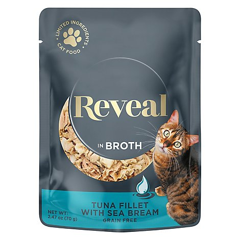 Reveal Cat Food Grain Free Tuna Fillet With Sea Bream In A Natural Broth - 2.47 Oz