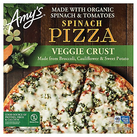 Amys Pizza Spinach Veggie Crust - 10.15 OZ