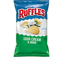 Ruffles Potato Chips Sour Cream & Onion - 8 OZ