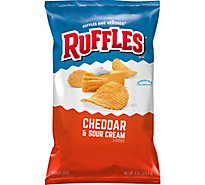 Ruffles Potato Chips Cheddar & Sour Cream - 8 OZ
