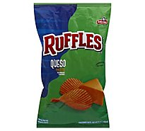 Ruffles Potato Chips Queso 8 Ounce - 8 OZ