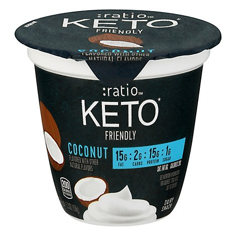Ratio Keto Friendly Coconut Dairy Snack - 5.3 OZ