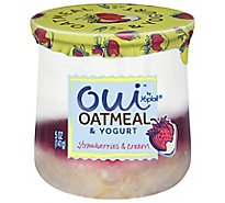 Oui By Yoplait Strawberries & Cream Yogurt & Oatmeal - 5 OZ