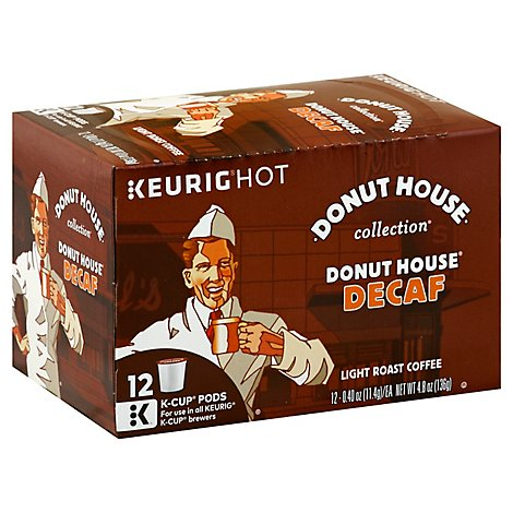 Donut House Collection Light Roast Decaffeinated Coffee K-cups - 12 CT