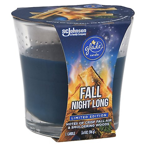 Glade Candle Fall Night Long - 3.4 OZ