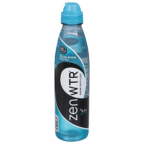 Zenwtr Water 100% Rpet With Ocean Plastic Bottle - 23.7 FZ
