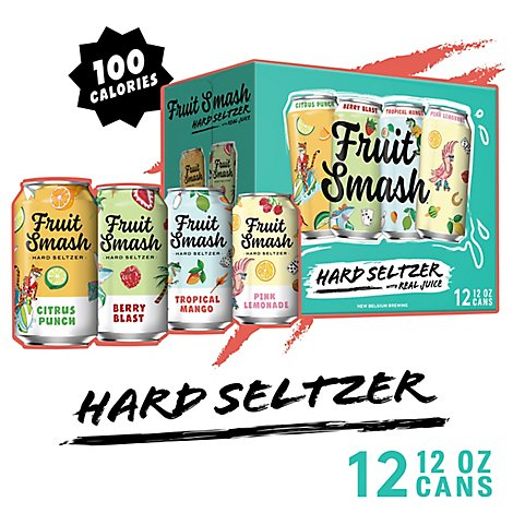 Fruit Smash Hard Seltzer Mixed Pk In Cans - 12-12 FZ