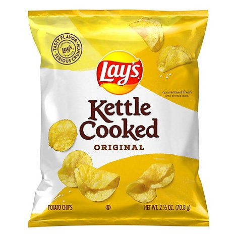 Lays Kettle Cooked Potato Chips Original - 2.5 OZ