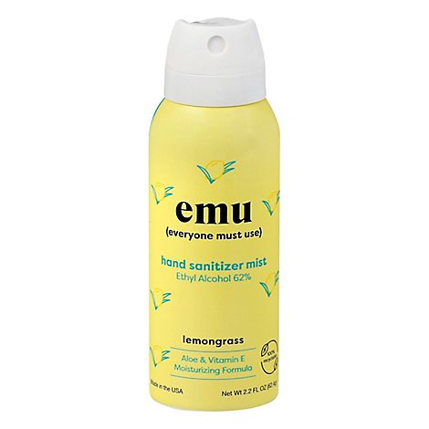 Emu Hand Sanitizer Lemongrass - 2.2 FZ