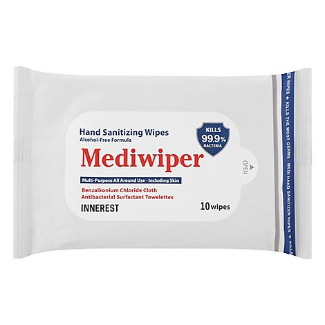 Mediwiper Hand Sanitizer Wipes - 10 CT