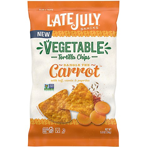Lj Org Multigrain Tortilla Carrot - 5.5 OZ