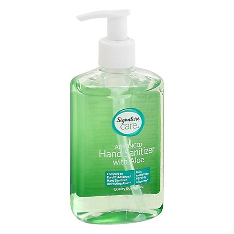 Signature Care Hand Sanitizer With Aloe - 8 FZ
