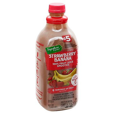 Signature Farms Smoothie Strawberry Banana - 48 OZ