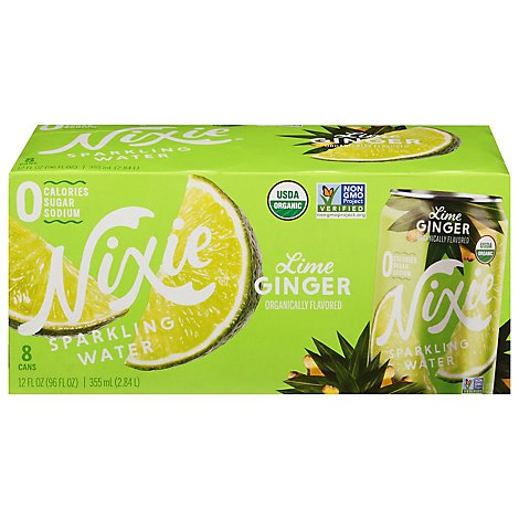 Nixie Sparkling Water Lime Ginger 8pk - 96 FZ