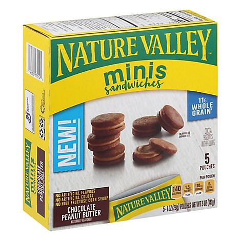 Nature Valley Mini Chocolate Peanut Butter Sandwiches - 5 OZ