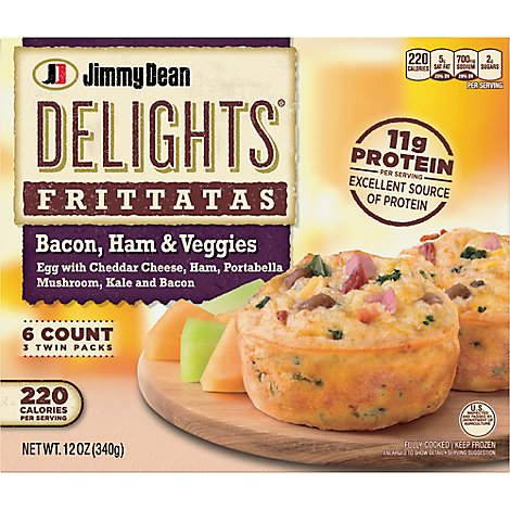 Jimmy Dean Delights Bacon Ham And Veggie Frittata - 12 OZ