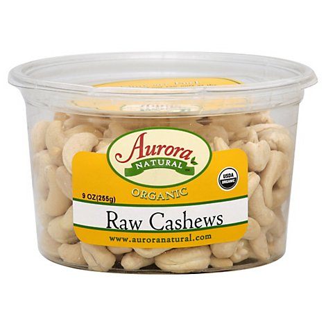 Aurora Organic Cashews Raw - 9 OZ