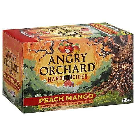 Angry Orchard Hard Cider Peach Mango In Cans - 6-12 FZ