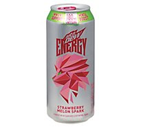 Mtn Dew Rise Energy Drink Strawberry Melon Spark - 16 FZ