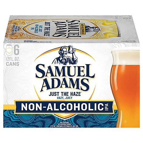 Samuel Adams Just The Haze Non-alcoholic Ipa In Cans - 6-12 FZ