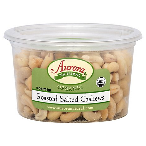 Aurora Organic Cashews Salted - 9 OZ