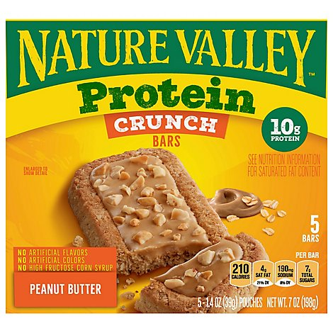 Nature Valley Protein Peanut Butter Crunch Bars 5 Count - 7 OZ