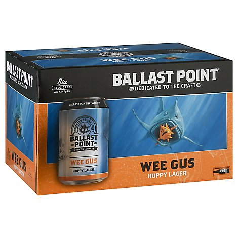 Ballast Point Wee Gus Hoppy Lager In Cans - 6-12 FZ