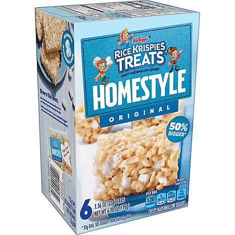 Kelloggs Homestyle Original Rice Krispies Treats - 6.98 OZ