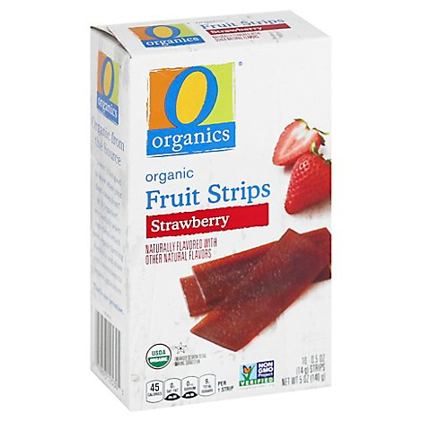 O Organic Fruit Strips Strawberry - 5 OZ
