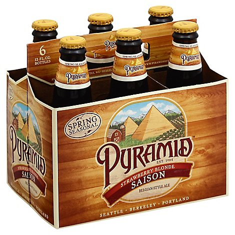 Pyramid Beer Winter Ale Snow Cap In Bottles 7% ABV - 6-12 Fl. Oz.