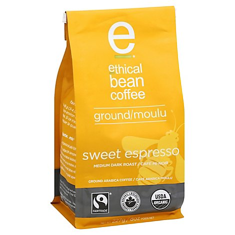 Ethical Bean Sweet Espresso Med Dark Roa - 8.43 OZ