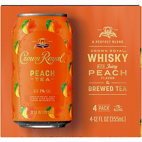 Crown Royal Peach Tea - 4-12 FZ