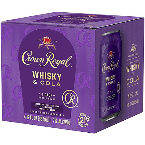 Crown Royal Whiskey & Cola - 4-12 FZ
