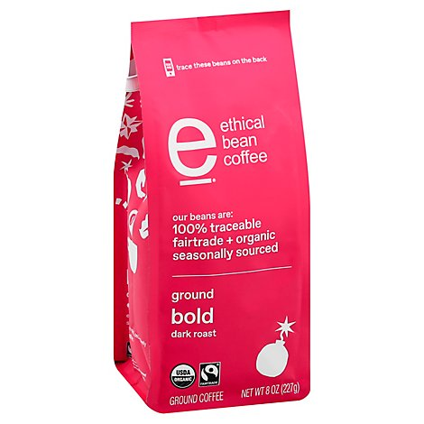 Ethical Bean Bold Ground Coffee - 8 OZ