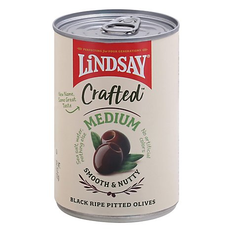 Lindsay Craft Medium Pitted Black Olives - 6 OZ