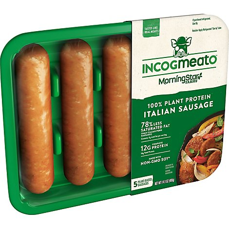 Morningstar Farms Incogmeato Sausage Italian Sausage - 14 OZ