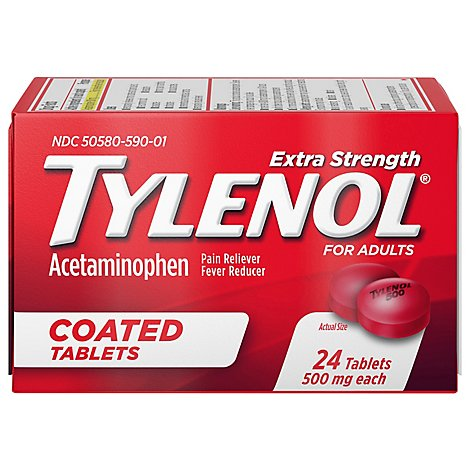 Tylenol Xtra Strength Tablets - 24 CT