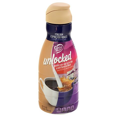 Nestle Coffee Mate Unlocked Italian Espresso Roast Liquid Coffee Creamer - 32 FZ