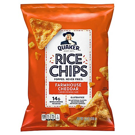 Quaker Rice Chips Cheddar - 5.5 OZ