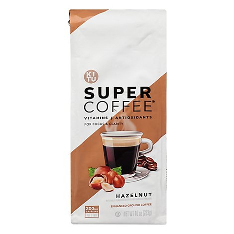 Super Coffee Grounds Hazelnut - 10 OZ