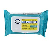 Signature Care Hemorrhoidal Medicated Wipes - 48 CT