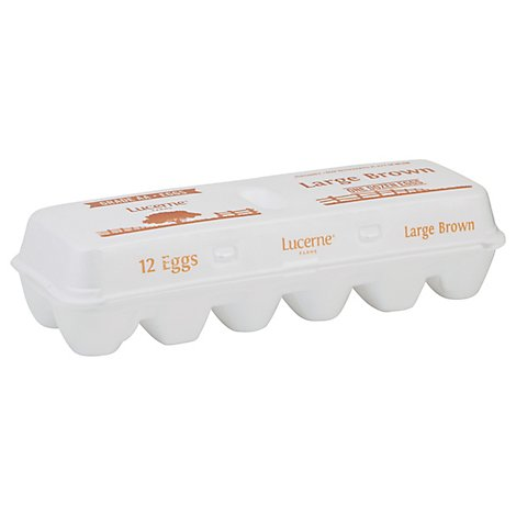 Lucerne Eggs Brown Large Aa - 12 CT
