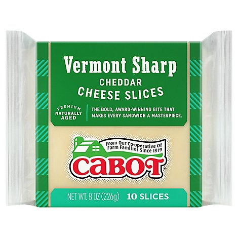Cabot Sharp Cheddar Cheese Slices - 8 OZ