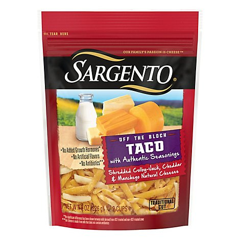 Sargento Taco Shredded Cheese - 8 OZ