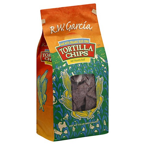 Rw Garcia Chip Tortilla Corn Blue - 21 OZ