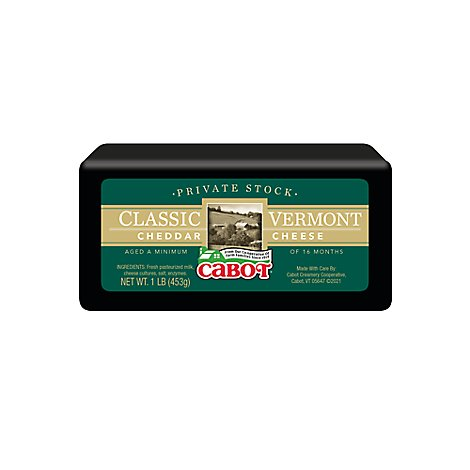 Cabot Private Stock Classic Vermont Cheddar Cheese - 16 OZ
